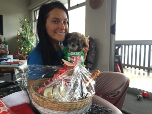 Joelene and puppy