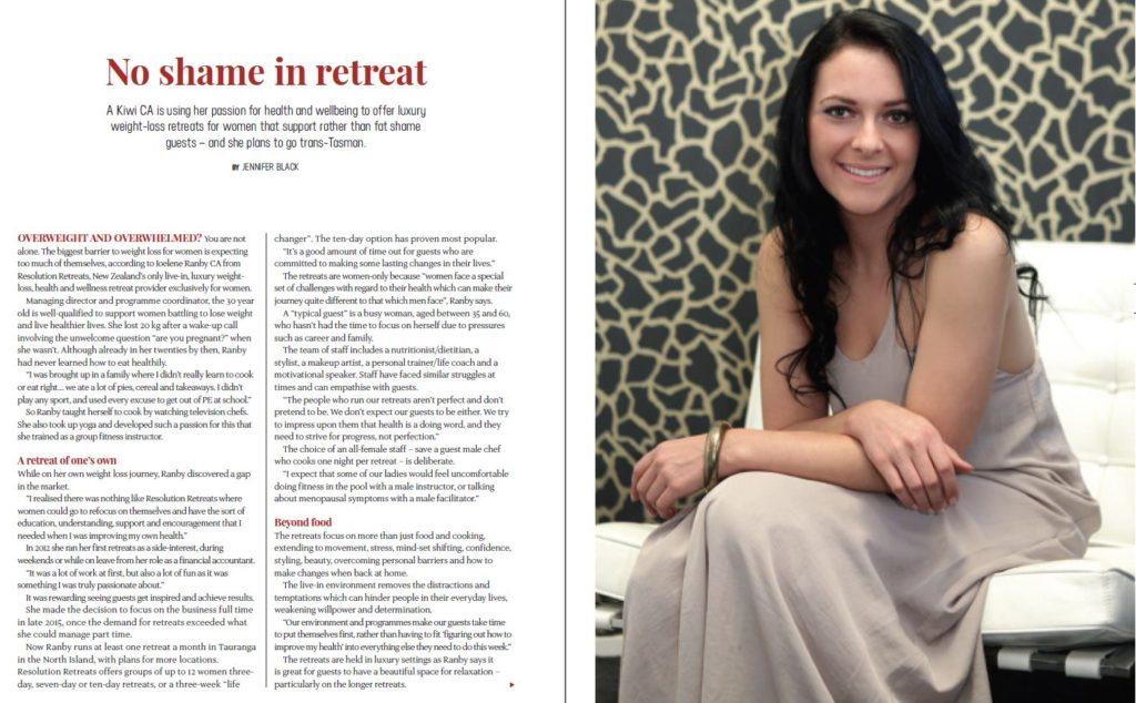 Founder, Joelene Ranby Magazine Article