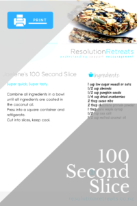 Click to Download/Print 100 Second Slice Recipe Card